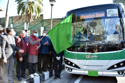 Uttarakhand Chief Minister Sri Trivendra Singh Rawat flagged off the Electric bus today at his residence.