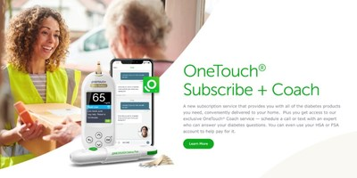 Consumers can now purchase personalized diabetes coaching and #1 doctor recommended OneTouch brand diabetes products from the comfort of home