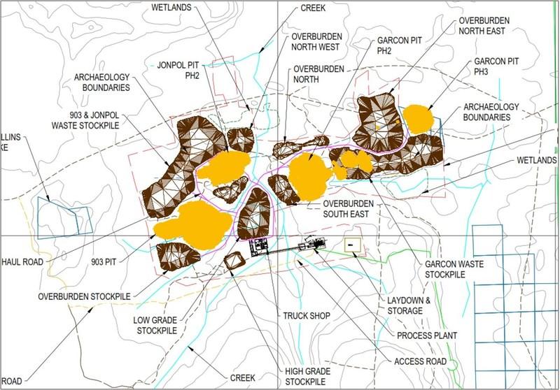 Figure 2: Site Plan (CNW Group/O3 Mining Inc.)