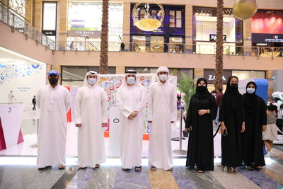 H.E. Jamal bin Huwaireb and the 'Bil Arabi' team at the opening of the events and activities (PRNewsfoto/Mohammed Bin Rashid Al Maktoum Knowledge Foundation)