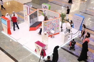 Great interaction from the public with the 'Bil Arabi' initiative's stand (PRNewsfoto/Mohammed Bin Rashid Al Maktoum Knowledge Foundation)