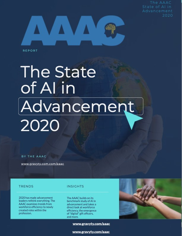 AAAC - THE STATE OF AI IN ADVANCEMENT 2020
