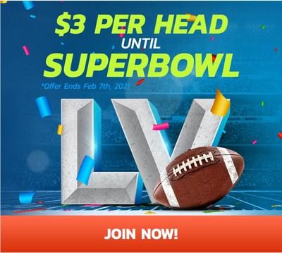 $3 Per Head until Superbowl. (CNW Group/PayPerHead)