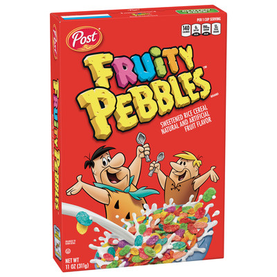 Current Fruity PEBBLES™ cereal box