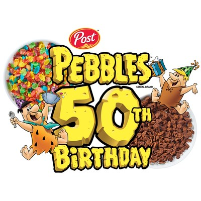 PEBBLES™ cereal 50th birthday logo
