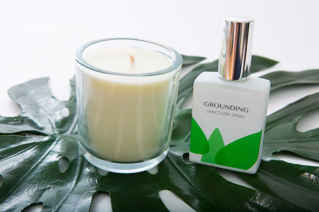 Finding Sanctuary Shop Grounding Candle and Spray to create an instant sense of sanctuary.