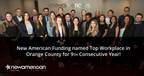 New American Funding Named Top Workplace in Orange County for 9th Straight Year