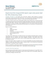 Keyera launches inaugural ESG report, signs solar power deal for 10% of electricity needs (CNW Group/Keyera Corp.)