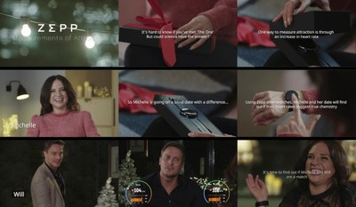 "Zepp's first reality web film for the Christmas season ""Measurements of Attraction"""