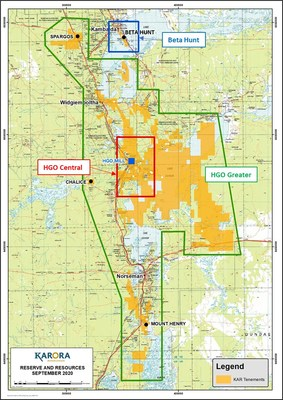 Figure 1: Karora Resources 2020 Mineral Resources and Reserves – Location Plan (CNW Group/Karora Resources Inc.)