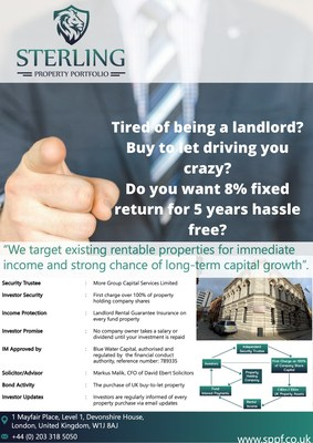 Sterling Wealth Associates adds exciting new fixed return bond to their property portfolio