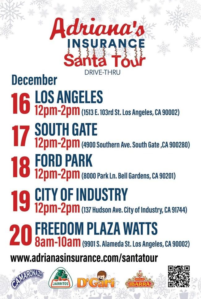 Santa Tour Dates