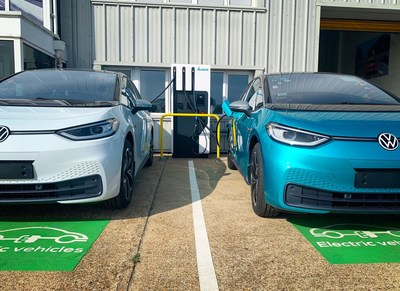 Delta and ElectrAssure Provide Volkswagen UK Ltd with Ultra-Fast EV Charging Solution for its PDI and Distribution Centre.