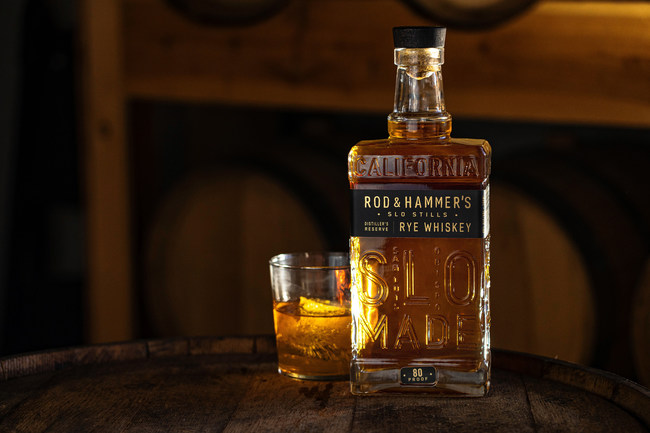 Rod & Hammer's Distiller's Reserve Rye Whiskey Bottle
