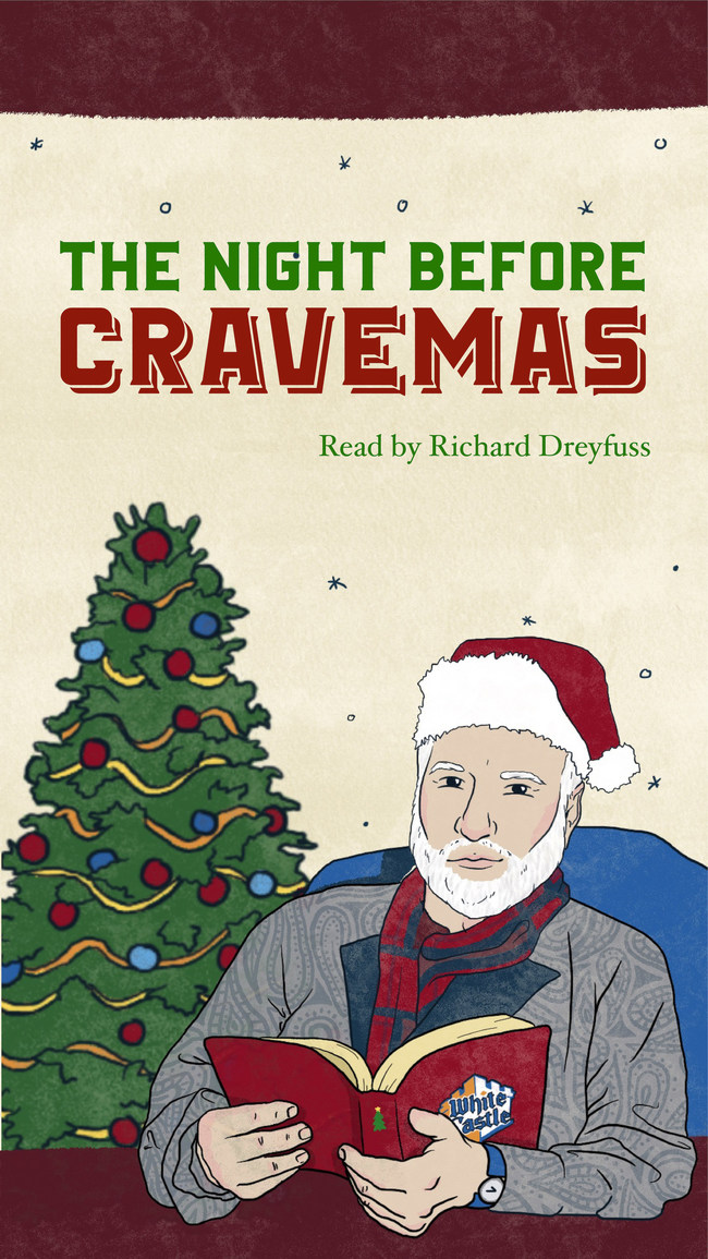 White Castle, a family-owned business, releases new 'Twas the Night Before Cravemas digital book –& narrated by Award Winner Richard Dreyfuss –& as a fundraiser for Change is on the Menu. This national campaign, launched by the National Restaurant Association Educational Foundation, supports restaurant industry workers who have struggled financially because of the COVID-19 pandemic.