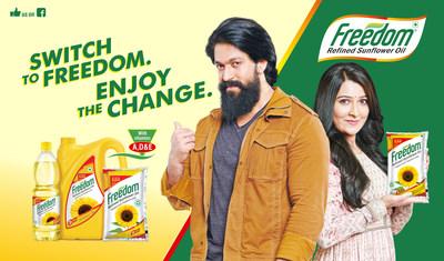 Yash & Radhika in Freedom Refined Sunflower oil TVC