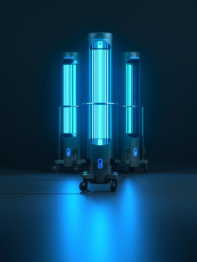 Surfacide Helios System UV Robots