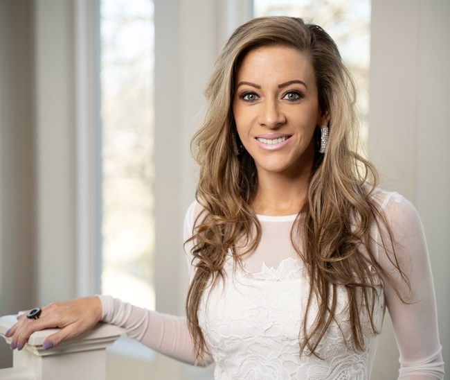 Natalie Mills, Jewelry & Accessories Designer - also known for her Best Selling, Destiny Rhinestone Face Mask.