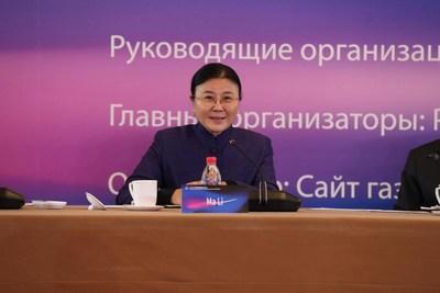 Ma Li, president of the China Internet Development Foundation, speaks at the 2020 China-Russia Online Media Webinar in Beijing, Dec 18, 2020. [Photo by Zhu Xingxin/chinadaily.com.cn]