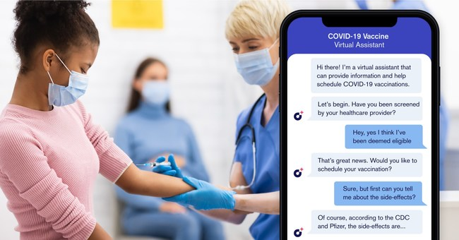 Hyro's VAXA solution uses conversational AI to answer questions about eligibility for COVID-19 vaccination, risk of side effects, and other concerns while automating appointment-setups.