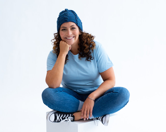 """Shira Blumenthal, Brand Ambassador for Lion Brand Yarn Company, Founder of #HatNotHate, and host of """"The Shi Show."""""""