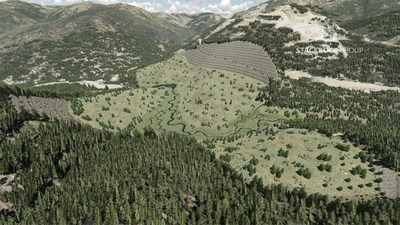 Figure 3:  Proposed Post Closure Isometric View of Yellow Pine Pit Area (CNW Group/Midas Gold Corp.)