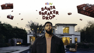Anthony Davis dropped 500 pairs of sneakers while driving Santa's sleigh. eBay has now turned the dropped goods into a sneaker drop like no other at ebaysantasneakerdrop.com.