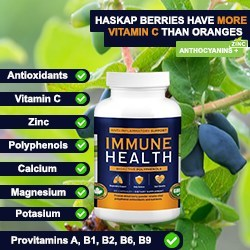 We took the best NEW berry Nature could give and brought it to you in the most easy-to-use form! A potent Extract of the Haskap Super Berry + Zinc gets easily digested for the best possible results. Use it twice daily and be healthy! Canadian researchers have demonstrated that haskap berry extracts significantly reduces the development of chronic inflammation. They also showed that the anti-inflammatory effect of haskap was comparable to commonly used non-steroidal anti-inflammatories.