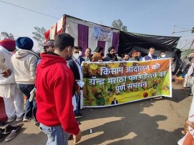 Grand Maratha Foundation supports Farmers protest