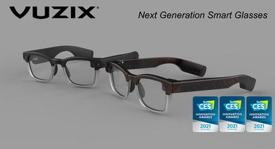 Vuzix Next Generation Smart Glasses Captures 3 CES 2021 Innovation Awards for Outstanding Design and Engineering