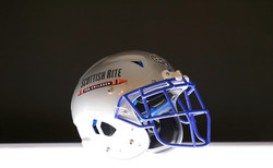 To continue the Cotton Bowl tradition of honoring Scottish Rite for Children in a COVID-19 environment, Goodyear and the Cotton Bowl introduce a custom football helmet featuring the hospital's logo. The gesture is one of several that title sponsor Goodyear and Cotton Bowl have planned for the healthcare organization ahead of the Goodyear Cotton Bowl Classic on Dec. 30, 2020. (Ron Jenkins/AP Images for Goodyear)