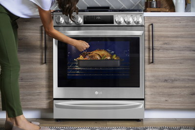 InstaView® panel of InstaView® Range with Air Sous Vide