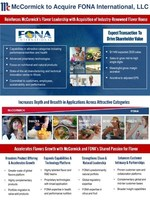 McCormick Acquires FONA International, LLC...