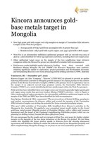 Full press release: Kincora announces gold-base metals target in Mongolia (8 pages, 3 figures & 1 table). Please refer to the attached PDF for all figures and Table 1: West Fox rock chip sample results. (CNW Group/Kincora Copper Limited)