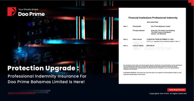 Doo Prime Bahamas Limited Secured the Professional Indemnity (PI) Insurance.