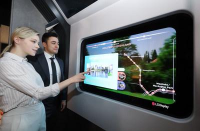 LG Display Transparent OLED on Subway Train