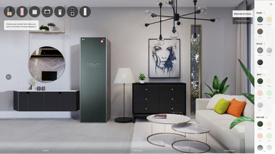 The virtual showroom of LG Furniture Concept Appliances