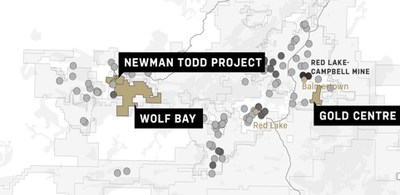 Figure 1 Location of the Newman Todd Project property now owned 100% by Trillium Gold Mines (CNW Group/Trillium Gold Mines Inc.)