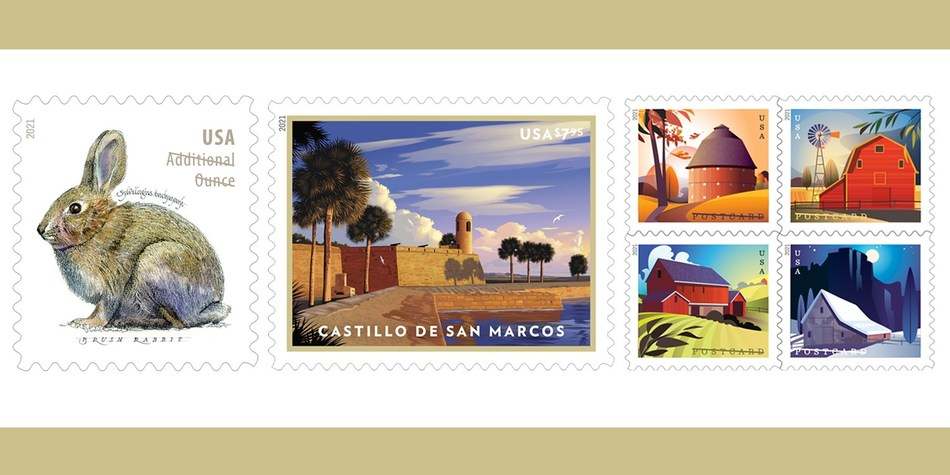 Post Office Christmas Stamps 2021 Usps Will Issue New 2021 Stamps For Price Change