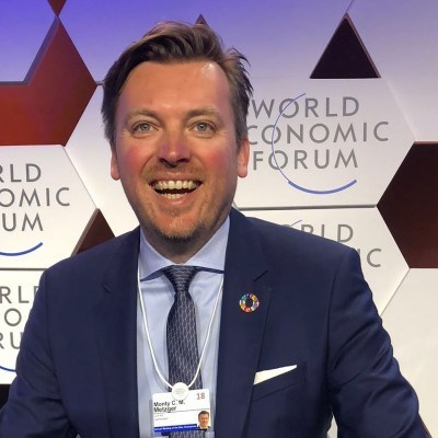 Monty Metzger, CEO & Founder at LCX.com. Photo taken at the World Economic Forum.
