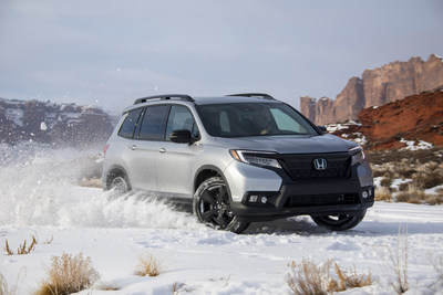 American Honda announced December and Q4 auto sales today, with solid gains by Honda and Acura trucks. The Honda Passport set the bar, setting new December and annual all-time sales records. (PRNewsfoto/American Honda Motor Co., Inc.)