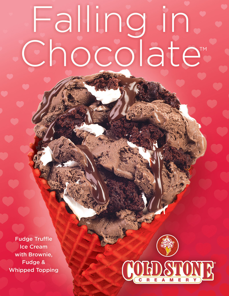 Falling in Chocolate Creation (PRNewsfoto/Cold Stone Creamery)