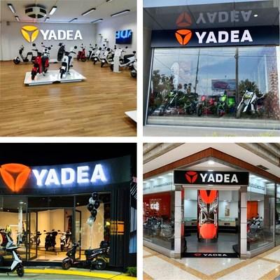 Tiendas Insignia globales de Yadea (PRNewsfoto/Yadea)