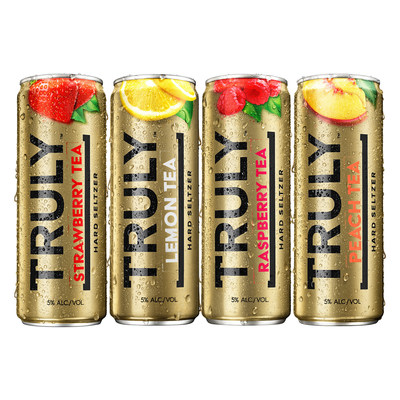Truly Iced Tea flavors - Lemon, Raspberry, Strawberry & Peach.