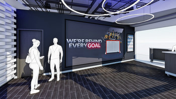 Rendering of FNB's new digital center in PPG Paints Arena