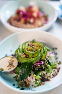 Cauliflower Rice with Avocado Rose Salad