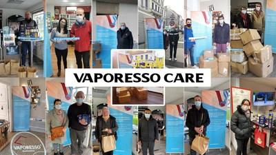 Vaporesso trabaja con tiendas de vapeo locales para apoyar a personas necesitadas en Francia (PRNewsfoto/VAPORESSO)