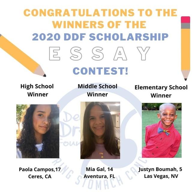 2020 Debbie's Dream Foundation Scholarship Essay Contest winners.