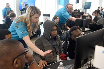 C Spire IT employees help high school students during a 2019 coding challenge. The company's non-profit charitable arm is making a $1 million commitment to help school districts across Mississippi with implementing computer science programs in the classroom.