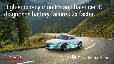 Engineers can diagnose battery failures in high-voltage systems in half the time, achieve ASIL D certification and extend driving range in hybrid and electric vehicles